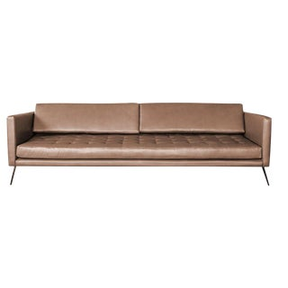 Atra Mantis Leather Sofa For Sale