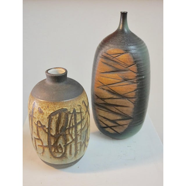 Tim Keenan Abstract Ceramic Vessels - a Pair For Sale - Image 10 of 11