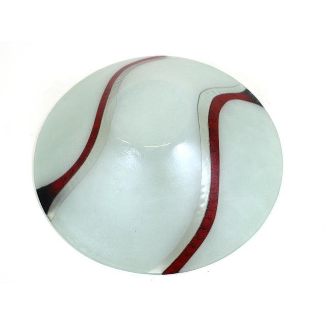 Richard Knopf Postmodern Glass Charger Plate For Sale - Image 9 of 10