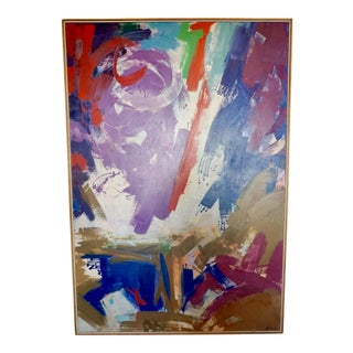Large Abstract Painting by Erle Loran For Sale