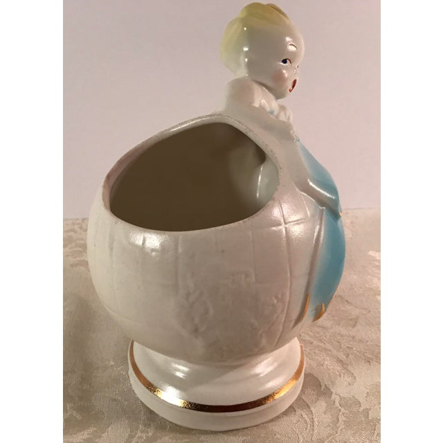 Art Deco Baby & Globe Ceramic Vase - Image 5 of 11