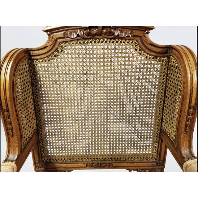 Circa 1910 Pair of French Louis XVI Style Armchairs For Sale - Image 12 of 13