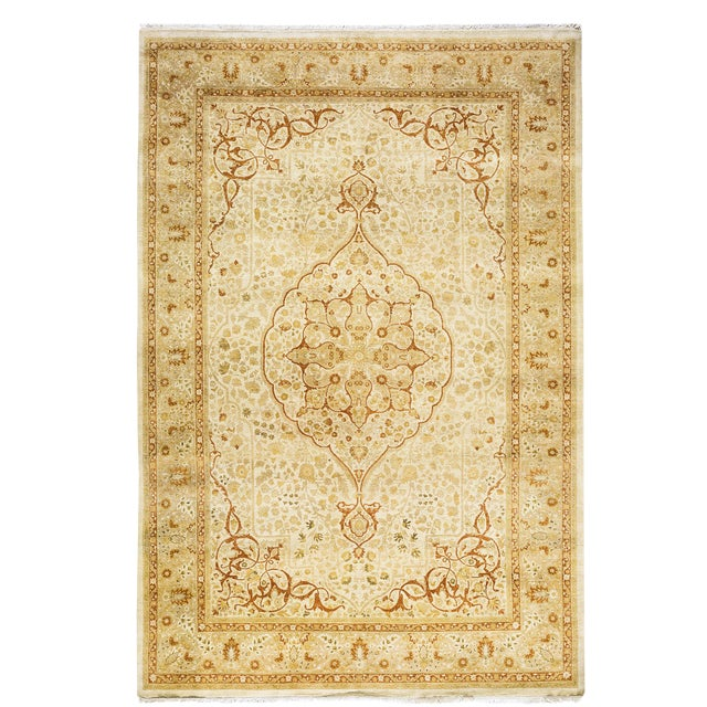 """New Traditional Hand Knotted Area Rug - 6'3"""" x 9'4"""" - Image 1 of 3"""