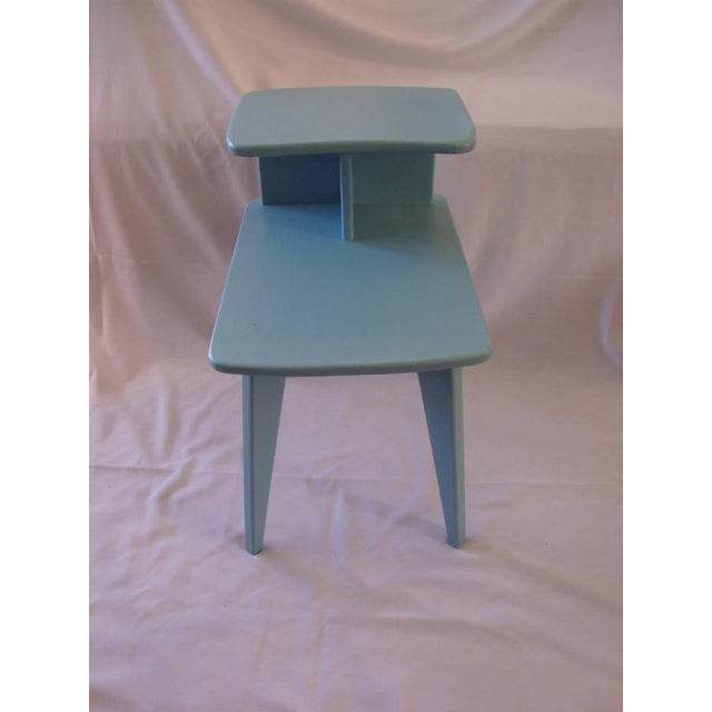 Retro Duck Blue Side Tables - A Pair - Image 5 of 6
