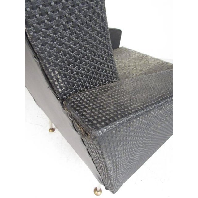 Metal Italian Modern High Back Lounge Chairs After Gio Ponti For Sale - Image 7 of 11