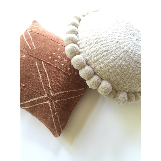 African Mudcloth Rust Pillow Cover - Image 7 of 7