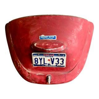 Vintage Beetle Bonnet With Texas License Plate