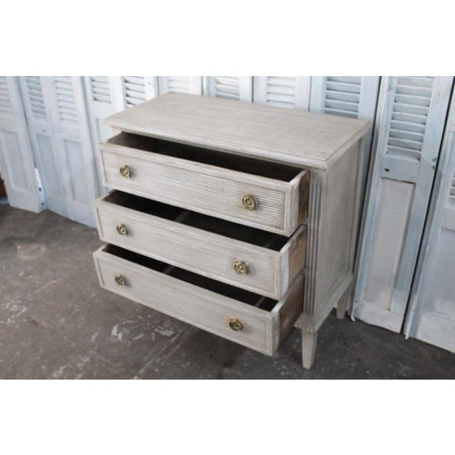 20th Century Vintage Swedish Gustavian Style Nightstands - A Pair For Sale - Image 10 of 13