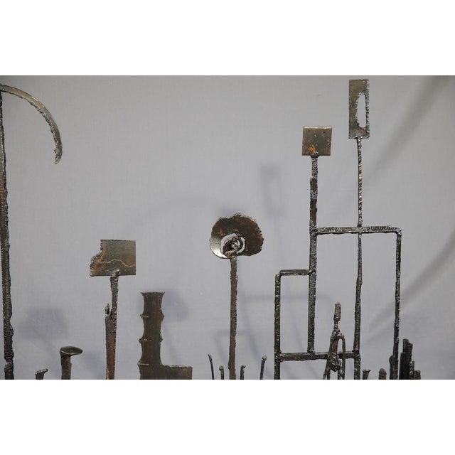 Arts & Crafts 1960's Brutalist Welded Steel Sculpture For Sale - Image 3 of 9