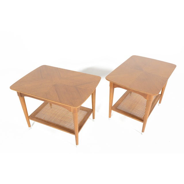B.P. John Walnut Side Tables - a Pair - Image 2 of 10