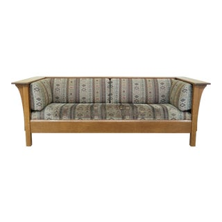 Stickley Mission Oak Arts & Crafts Style Sofa For Sale