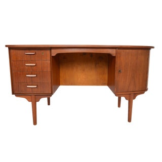 H.P. Hansen Atomic Teak Writing Desk For Sale