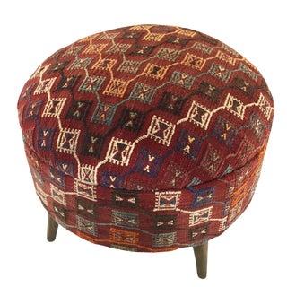 Large Kilim Ottoman | XL Kilim Pouf For Sale