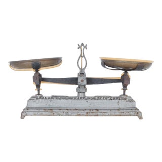 Antique French Household Scale For Sale