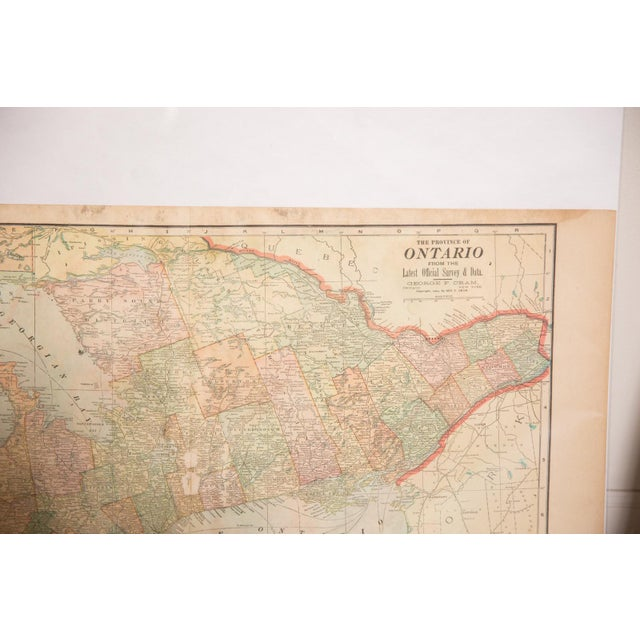 Old New House Cram's 1907 Map of Ontario For Sale - Image 4 of 8