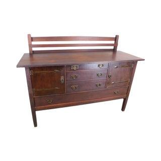 Gustav Stickley Antique Mission Oak Sideboard For Sale