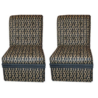 Contributed to James Mont Slipper Chairs - a Pair For Sale