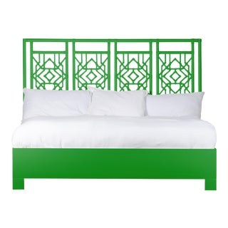 Tulum Bed King - Bright Green For Sale