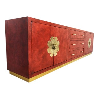 Mid-Century Modern Chinoiserie Credenza or Sideboard For Sale