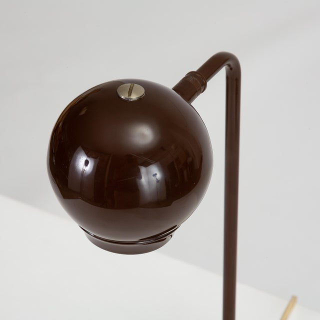 Metal Eyeball Table Lamp by Robert Sonneman for George Kovacs For Sale - Image 7 of 9