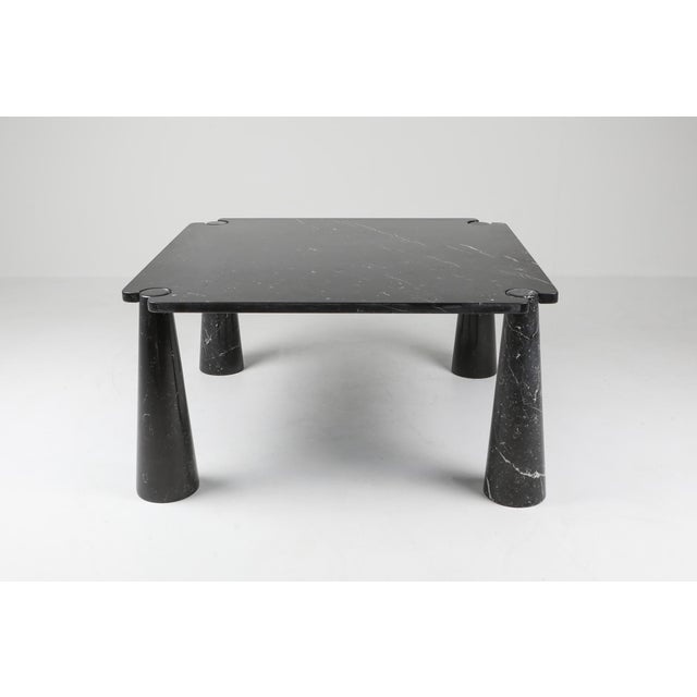 Angelo Mangiarotti Angelo Mangiarotti 'Eros' Square Marble Dining Table For Sale - Image 4 of 9