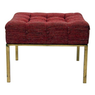 Harvey Probber Square Tufted Ottoman For Sale