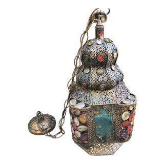 Vintage Electrified Moroccan Lantern For Sale