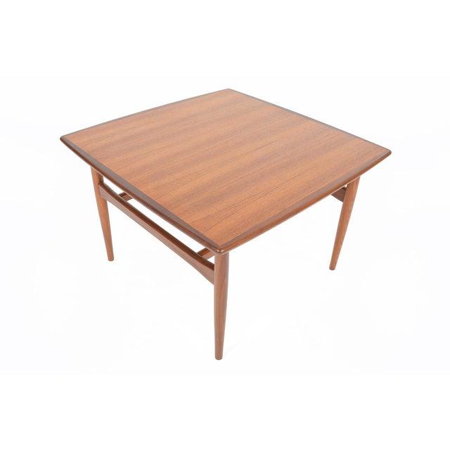 Mid-Century Danish Modern Square Teak Coffee Table - Image 7 of 8