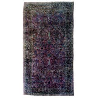 1920s Vintage Antique Purple Persian Mashhad Rug - 10′2″ × 18 For Sale