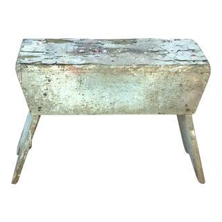 Primitive Antique Painted Utility Bench