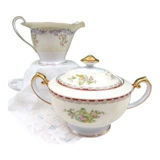 Vintage Mismatched Sugar & Creamer Set