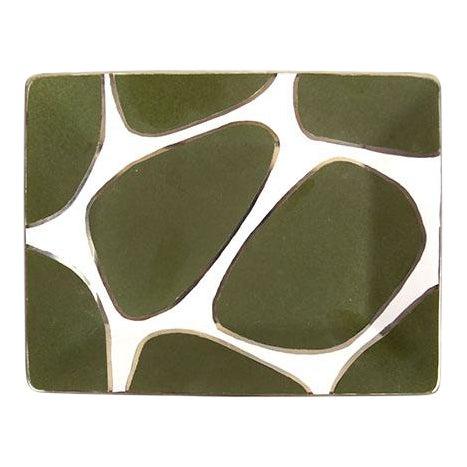 Waylande Gregory Giraffe Print Rectangle Plate / Tray For Sale