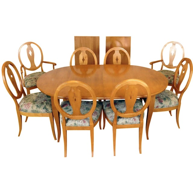 Ethan Allen Country Colors Wheat Dining Set - Image 1 of 11