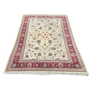 Traditional Hand-Knotted Wool Indian Rug - 9′6″ × 13′8″ For Sale