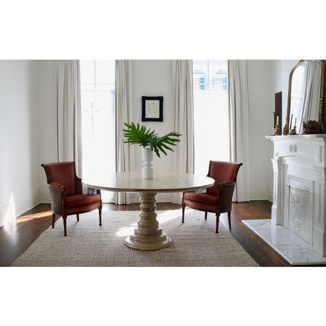 Modern Amelia Round Wooden Dining Table For Sale - Image 4 of 8