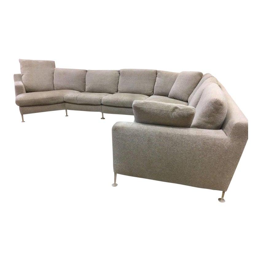 Sophisticated B B Italia Extra Large Harry Sectional Sofa By Antonio