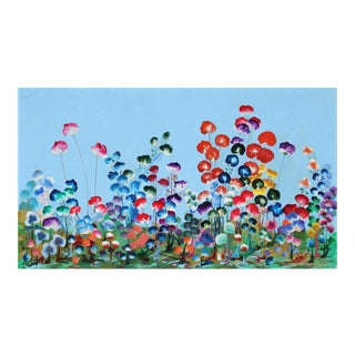 Field of Pansies, Large Painting by Beekman