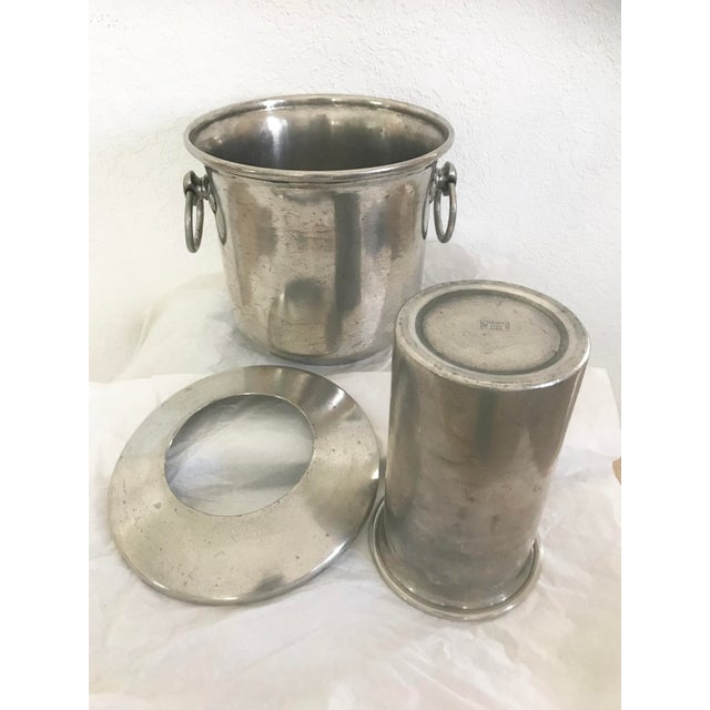 Vintage E P U  Europe Etain Zinn Pewter Ice Bucket Wine Cooler