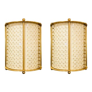 Thomas Pheasant for Baker Modern Brass Bracelet Sconces Pair For Sale