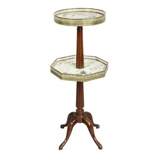 1920s Louis XVI Style Mahogany 2-Tier Stand by Escalier De Christa For Sale