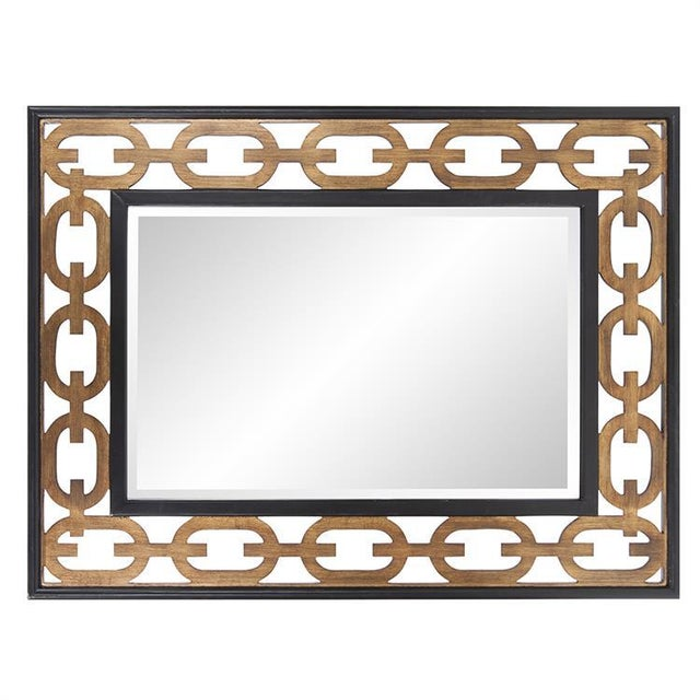 Contemporary Kenneth Ludwig Chicago Chain Link Mirror For Sale - Image 3 of 8
