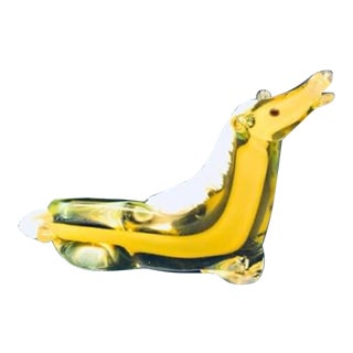 "Midcentury Murano Glass Art ""Laying Horse"" Figurine For Sale"