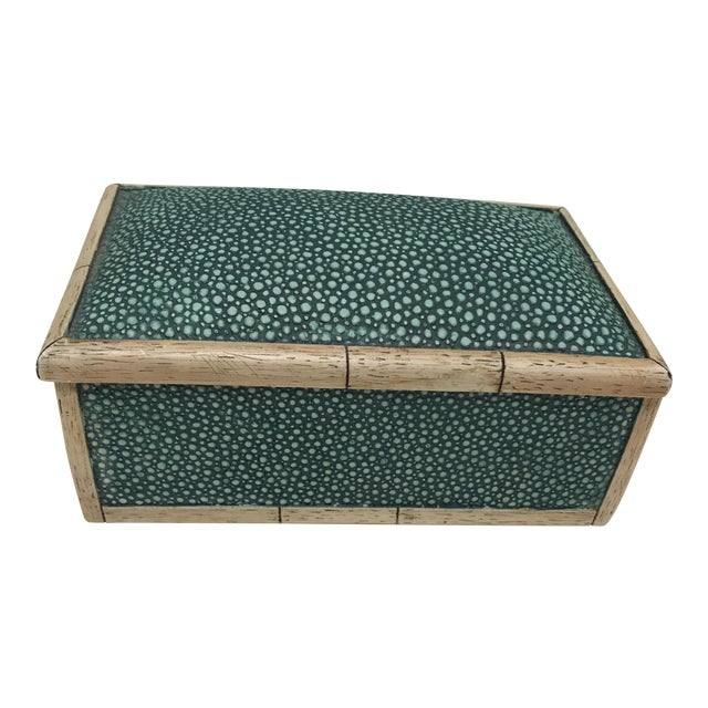 Ceramic Faux Shagreen Lidded Box For Sale