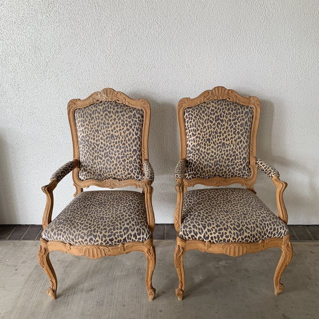 Late 20th Century Antique Beechwood Rococo Chairs A Pair Chairish