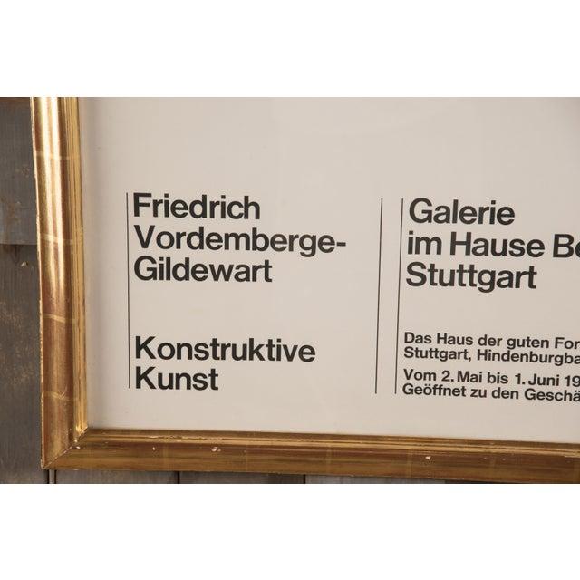 1968 Vintage Friedrich Vordemberge-Gildewart Exhibition Poster For Sale - Image 4 of 7