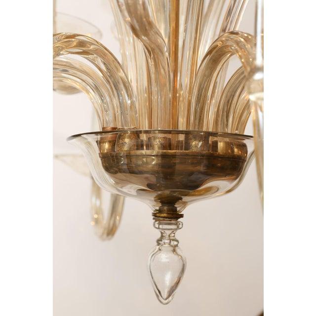 Vintage Italian Glass Chandelier For Sale In Houston - Image 6 of 9