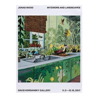 Jonas Wood 2017 Exhibition Lithograph Print For Sale