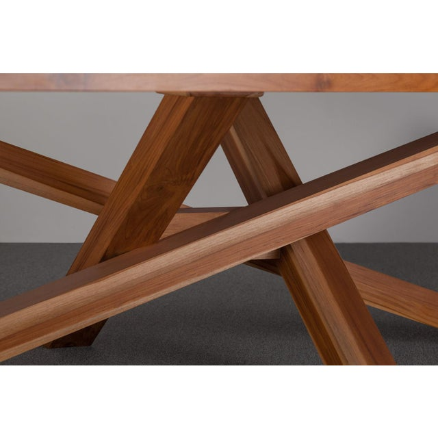Contemporary Ebb and Flow Cross Dining Table For Sale - Image 3 of 5