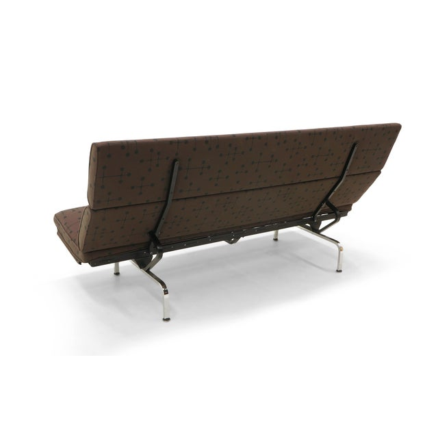 Charles and Ray Eames Sofa Compact for Herman Miller in Eames Dot Pattern Fabric - Image 4 of 10