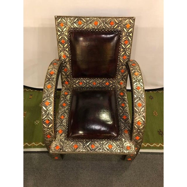 Boho Chic Royal Style Camel Bone Armchair For Sale - Image 3 of 10